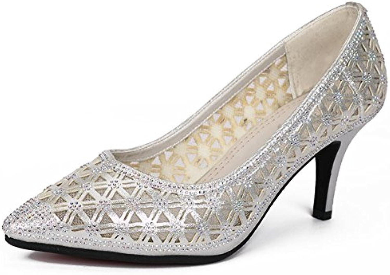 GUOSHIJITUAN Damen Latein SchuheEchtes Leder Dancing Schuhe High Heels Leise Unten Ballroom Dance Schuhe Tanzö
