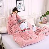 Blankets Multifunktion Faule Quilt Mit Ärmeldecken Herbst Winter Gewaschenes Warmes Bett Sofa150 * 200Cm / 59 * 78.7Inch,H