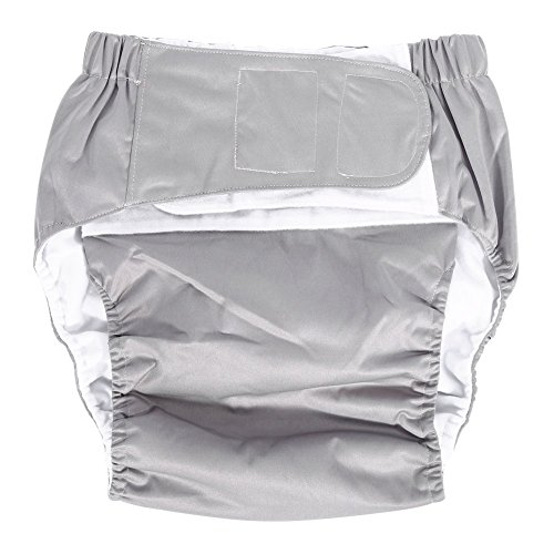 Einfache Pocket-hose (Adult Pocket Windel Verstellbare Tuch Windel Hose Waschbar Wiederverwendbare Windel Hose für Inkontinenz Pflege (Grau))