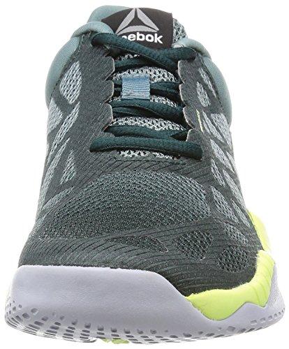 Reebok Zprint Train, Chaussures de Fitness Femme gris - Gris  (Teal Dust / Forest Grey / Lemon Zest / Cloud G)