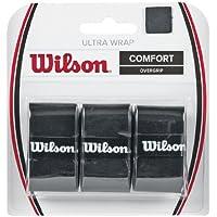 Wilson Overgrip, Ultra Wrap Overgrip, 3 Unidades, Negro, WRZ403000