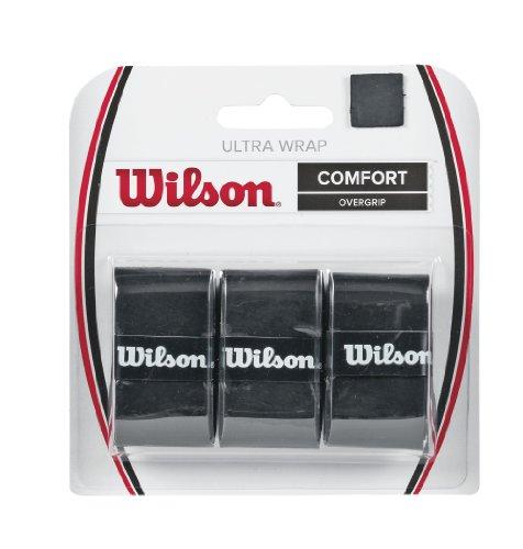 Wilson Unisex Griffband Ultra Wrap Overgrip, schwarz, 3 Stück, WRZ403000