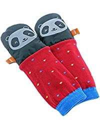 mimitens All Weather manga larga cálido invierno manoplas (tamaño 2–3, Negro y Plata), diseño de oso panda