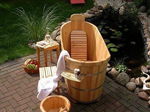 Holzbadewanne Saunatauchbecken Holz Badebottich Zuber Badezuber Badewanne Sauna TauchBecken L=130cm
