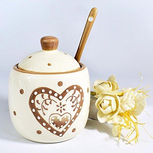 Bomboniere zuccheriera ceramica shabby chic