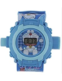 Shanti Enterprises Combo Sports Watch Multi Color Dial For Kids And Doraemon 24 Images Projector Watch