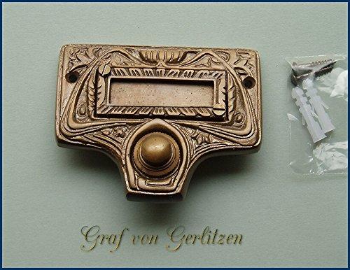 Graf von Gerlitzen Antik Messing Tür Klingel 1 Gründerzeit Türklingel Klingelschild K36A