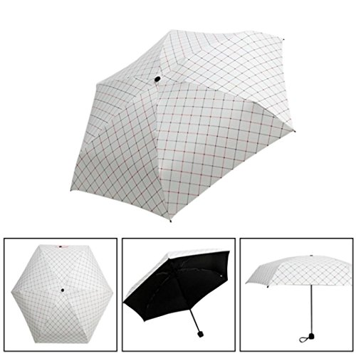 LCLrute Professioneller Taschenschirm Mini Pocket 5 Folding Kompakte Prinzessin Anti UV Sun Regen Regenschirm Sonnenschirm Case (A) Barware Cocktail-bar