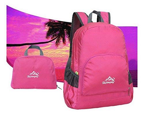 Ultra leggero da viaggio impermeabile escursionismo arrampicata campeggio Zaini Casual scuola borsa a tracolla per adolescenti e bambine Rosa