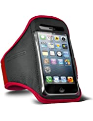 Fone-Case Nokia Lumia 720 verstellbaren Sport Fitness Jogging Arm Band Hülle (Rot)