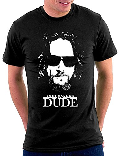 Million Nation The Big Lebowski The Dude T-shirt, Schwarz, XL (The Big Lebowski Shirt)