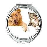 Yanteng Spiegel, Compact Spiegel, Shih Tzu Hund niedlichen Hund, Taschenspiegel, 1 X 2 X Vergrößerung