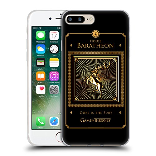 Offizielle HBO Game Of Thrones All Houses Golden Sigils Soft Gel Hülle für Apple iPhone 6 Plus / 6s Plus Baratheon Border