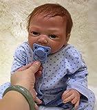 OUBL 18pulgadas 45 cm Bebe Reborn Muñeca Niño Silicona Real Ojos...