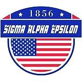 Sigma Alpha Epsilon fraternidad EE. UU. Estrellas en letras la bandera americana adhesivo de vinilo ventana de griego de 3pulgadas para ordenador portátil coche SAE