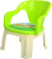 Baybee Pop N up Strong Durable Baby Chair | Home School Study Plastic Chairs for Boys & Girls Unisex - Green