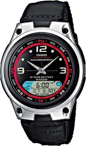 Casio Collection – Reloj Hombre Analógico/Digital con Correa Imitación de Piel y Textil – AW-82B-1AVES