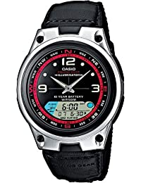 Casio Collection Herrenuhr Analog/Digital Quarz mit Kunstleder-Textilarmband – AW-82B-1AVES