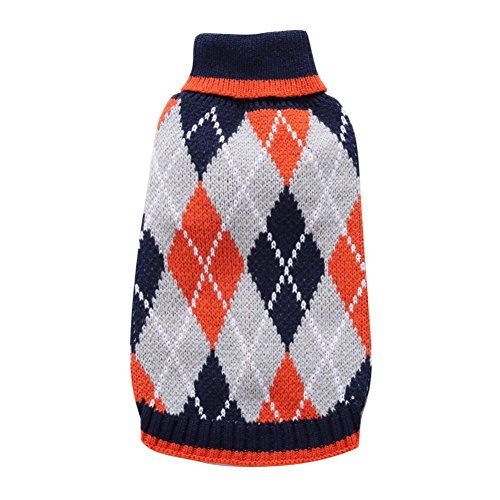 Kiao Welpen Hund Pullover Outwear Mantel Katze Strick Warm Bekleidung (Periode Halloween Kostüme)