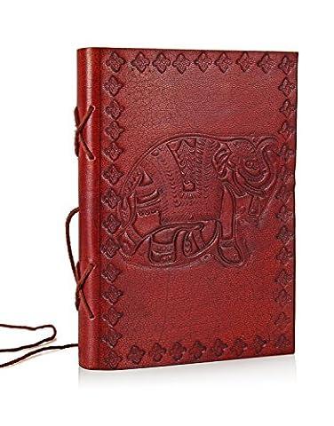 Mères jour cadeaux de Cuir Carnet de Voyage Journal Planner