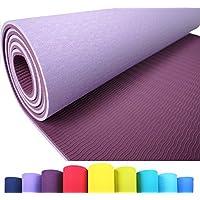 Iseaa Esterilla para Yoga Pilates Fitness Gimnasia TPE - Tapete de Yoga - Yoga Mat Esterilla Antideslizante y Ligero con Grosor de 6mm, tamaño 183cm x 61cm - Púrpura/Violeta