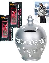 Parejas–Set de regalo–Jarra de ahorro y 2correas de snowboard
