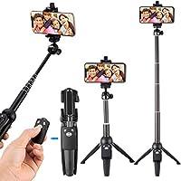 Selfie Stick Stativ mit Wireless Fernbedienung, Tobeape 2 in 1 Verstellbare Selfie-Stange Stab Monopod für Gopro Kamera iPhone X/ 8/7/ 7 Plus/ 6s/ 6/ 5s Android Samsung und die meisten Smartphones