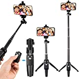 Selfie Stick Stativ mit Wireless Fernbedienung, Tobeape 2 in 1 Verstellbare...