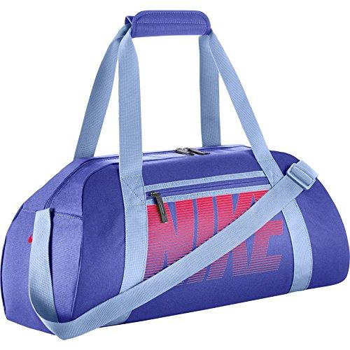 Nike Damen Gym Club Sporttasche, Paramount Blue/Aluminum/(Racer Pink), 56 x 23 x 30.5 cm