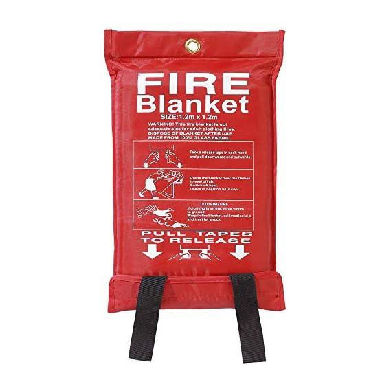 Axus Technologies Fiberglass Fire Blanket Soft Bag