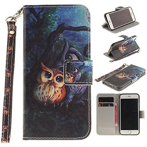 Jepson Apple iphone 6 / 6S (4,7 Zoll) Handytasche / Handyhülle. Flip Etui Wallet Case in Bookstyle - Premium PU Lederhülle Hülle Cover Mit Lanyard / Strap, Standfunktion, Kreditkarte und Brieftasche.