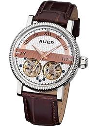 AUER Classic Collection BA-511-SRBrL Reloj Automático para hombres 2 volantes abiertos