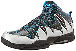 Nivia Heat Basketball Shoes, UK 11 (Black/Grey)