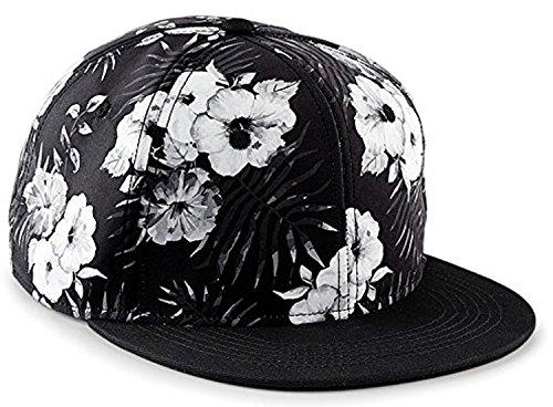 Snapback Damen Frauen Floral Blumen Snapback Cap Mütze Hut schwarz weiß Blumenmuster Muster Trend Fashion