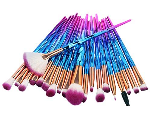 Make-Up Pinsel, GJKK 20PCS Super Weich Diamanten Bilden Foundation Augen Blender Pinsel Set Augen Make Up Pinselset Kosmetische Concealer Pinsel Foundation-Pinsel Eye Kit Geschenkschachtel (C) -