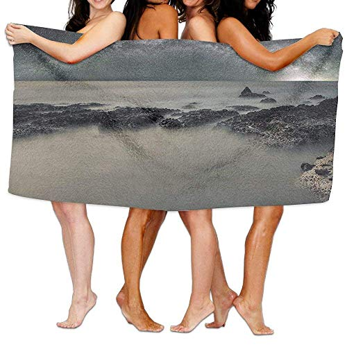 Towel Space Rocky Surface of Planet In Outer Space with Milky Way Background No Life Blur Foggy Soft Fast Drying Beach Towel Pool Towel 30x50 ()