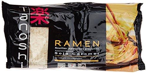 Tanoshi Ramen Nouilles Japonaises Précuites avec Assaisonnement Soja Caramel 360 g