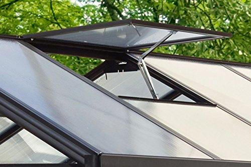 Vitavia Dachfenster für Gewächshaus Cronos, Ohne Verglasung in Schwarz, witterungsbeständiges und Stabiles Gartenhaus-Fenster, Leichte Montage, praktisches Zubehör