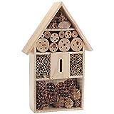 XL Insektenhaus Insektenhotel Schmetterlingshaus aus Holz Nistkasten Nistplatz Brustkasten Bienenhaus Insekten Bienen Hotel Natur Garten 40cm