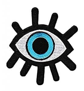 Blaues Auge Aufnäher Bügelbild Patch Applikation