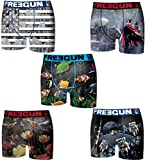 FREEGUN Lot 5 Boxers Collection (6-8 Ans) fg17