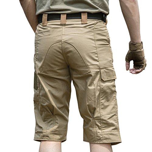 Free Soldier Outdoor uomo pantaloncini 3/4Capri estate ritagliata multitasche, traspirante Wolf Brown