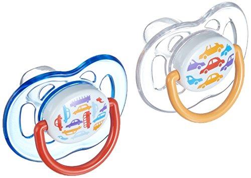 Philips Avent - SCF172/22 - 2 Succhietti Decorati - Silicone - 6-18 Mesi, Colori e Modelli Assortiti