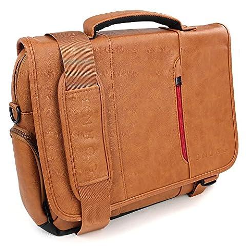 Laptoptasche, Snugg - Braune Notebooktasche - Umhängetasche für Laptops mit einer Bildschirmdiagonale von bis zu (Marrone Ecopelle Borsa Borsa)