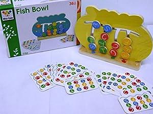 Allkindathings - Juego de Cuencos de Madera para niños con 2 Juegos en 1 Colorido Juguete para niños