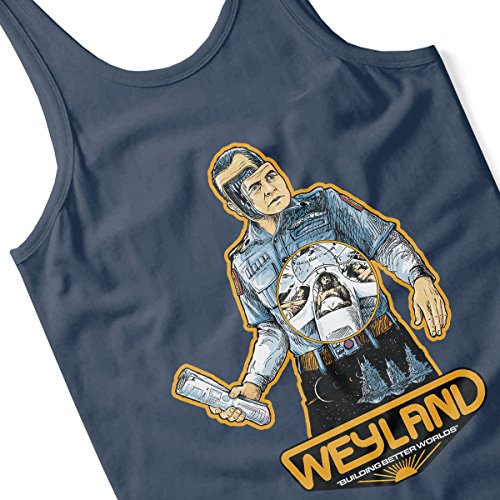 Weyland Building Better Worlds Alien Men's Vest Navy Blue