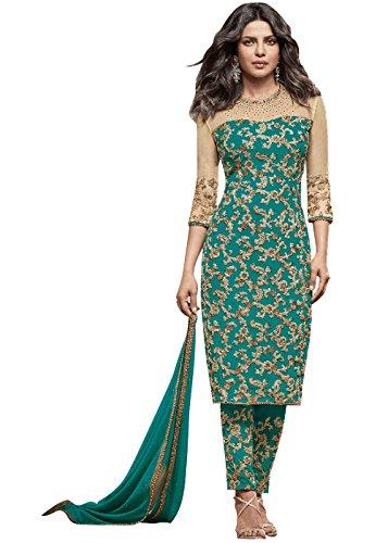 Designer Desk Graceful Salwar Suit - Embroidered Partywear Ethnic Suit in Bollywood...