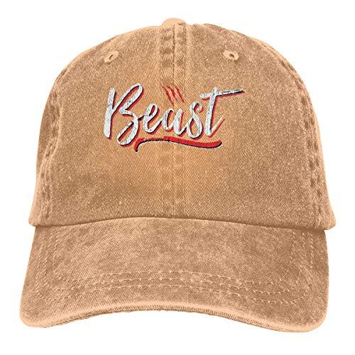 wwoman Unisex Erwachsene Vintage Washed Baseball Cap Verstellbarer Papa Hut - Beast ()