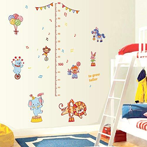 Sticker mural Dessin Animé Animal Grandir Hauteur Mesure Règle Maternelle Pépinière Enfants Enfants Chambre Amovible Stickers Muraux Stickers Décor Dc23