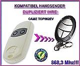 CAME TOP 862EV Kompatibel Handsender, Ersatz sender, 868.3Mhz fixed code, Klone